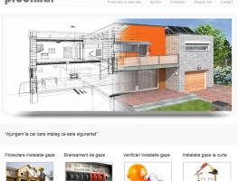 Site prezentare firma gaze