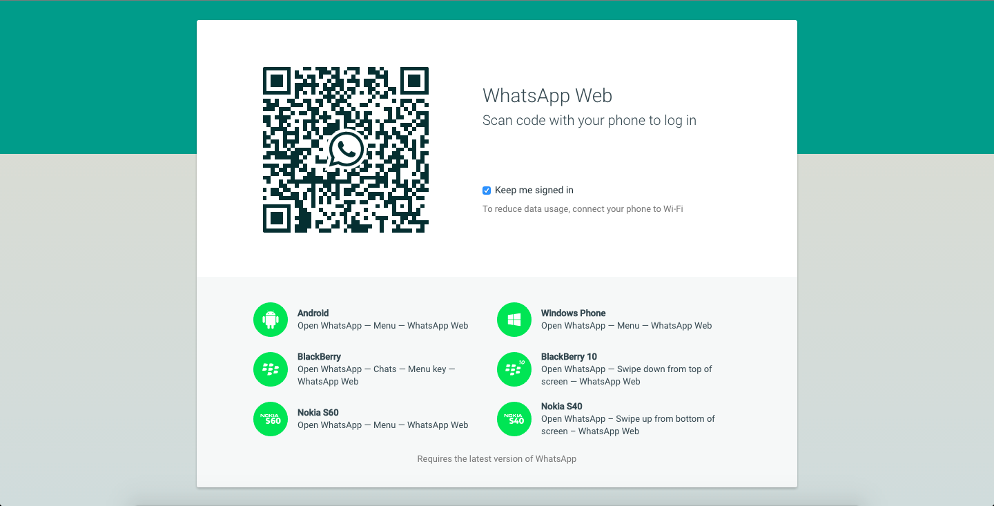 QR whatsapp pentru windows si mac os