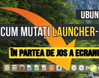 Cum puteți muta Unity Desktop's Launcher in partea de jos a ecranului dvs. in Ubuntu 16.04?