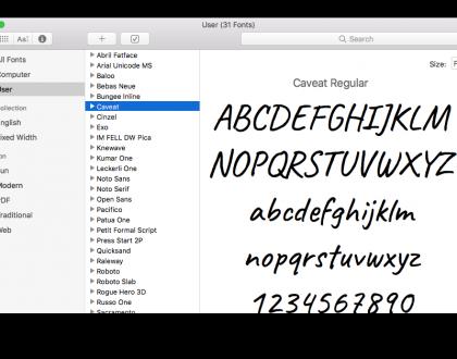 Cum se instalează fonturi noi în Mac OS X