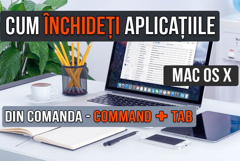 Închideți și ascundeți aplicațiile în macOS direct din interfața comenzii - Command + Tab