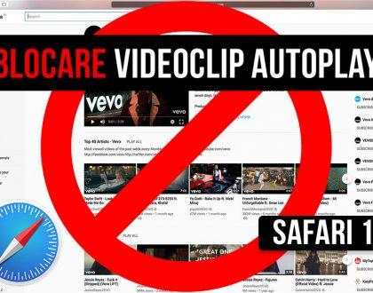 Cum să oprești redarea automată a videoclipurilor autoplay în Safari 11 - macOS High Sierra/Sierra