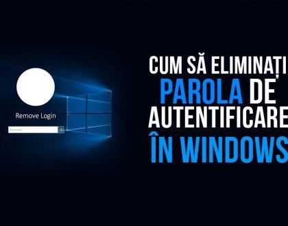 Cum să eliminați parola de autentificare în Windows 10
