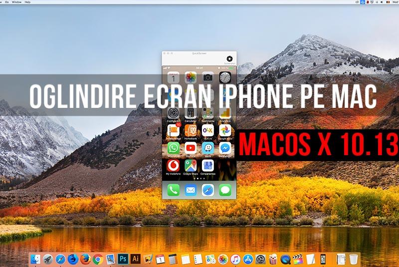 Oglindește ecranul iPhone-ului sau iPad-ului pe Mac cu aplicația gratuită QuickScreen
