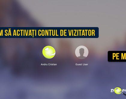 Cum se configurează un cont de utilizator oaspete / vizitator (guest user) în MacOS