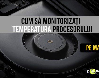 Cum se verifică - monitorizează temperatura procesorului pe Mac