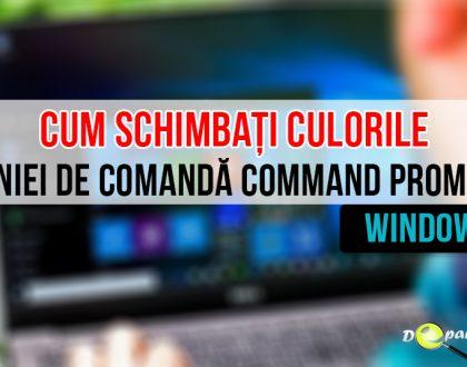 Cum puteți schimbă culorile implicite ale liniei de comandă Command Prompt - Windows