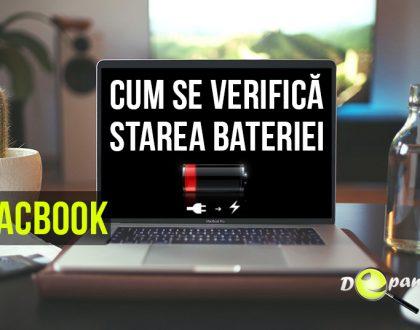 Cum se verifică starea de sănătate a bateriei pentru MacBook - MacBookAir - MacBookPro