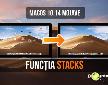 MacOS 10.14 Mojave și aranjarea fișierelor de pe desktop instantaneu în grupuri organizate cu funcția Stacks - caracteristici noi