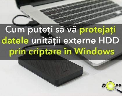 Cum puteți să vă protejați datele unității externe HDD prin criptare cu parolă în Windows 10