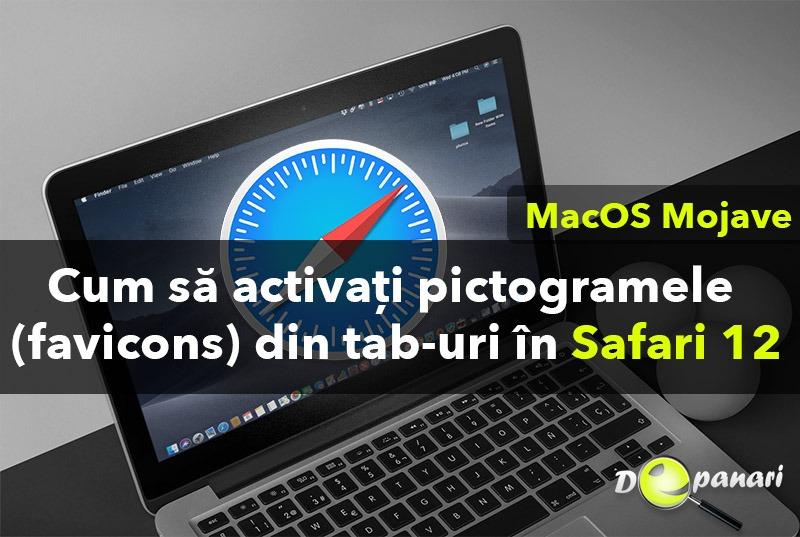 Cum să activați pictogramele din tab-uri (favicons) în Safari 12