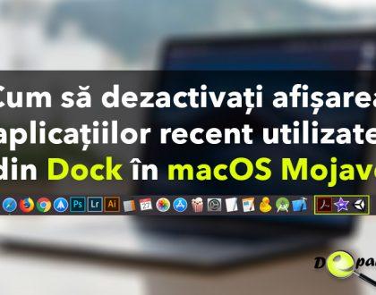 Cum să dezactivați / activați afișarea aplicațiilor recent utilizate din Dock în macOS Mojave
