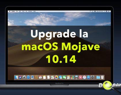 Cum se face upgrade la MacOS Mojave