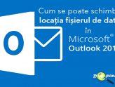 Cum se poate schimba locația fișierul de date (OST) în Microsoft Outlook 2016