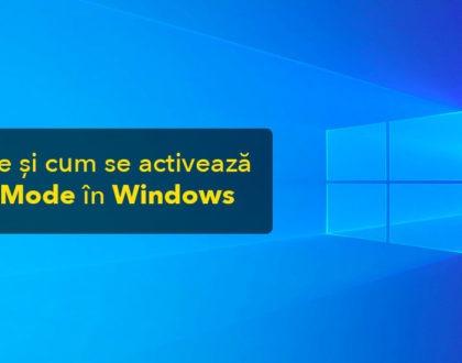 Ce este și cum se activează God Mode în Windows 10